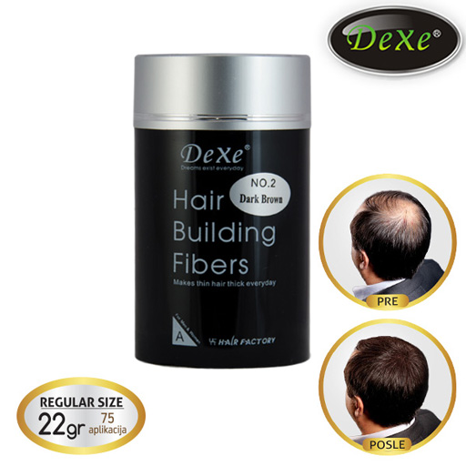 DEXE Hair Building Fibers 22g (75 applications)