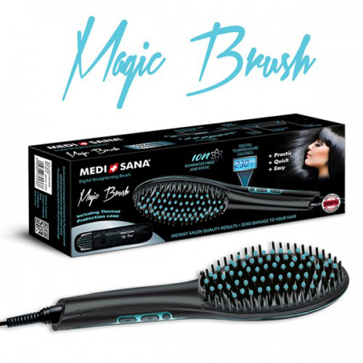 Medisana Magic Brush - A magic brush for hair straightening and ironing