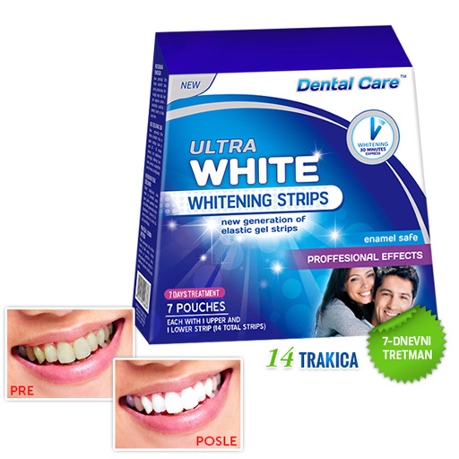 ULTRA WHITE teeth whitening strips - 7-day treatment (14 strips)